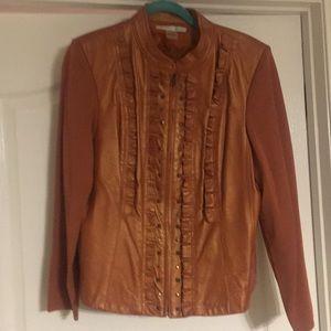 Peter Nygard orange jacket